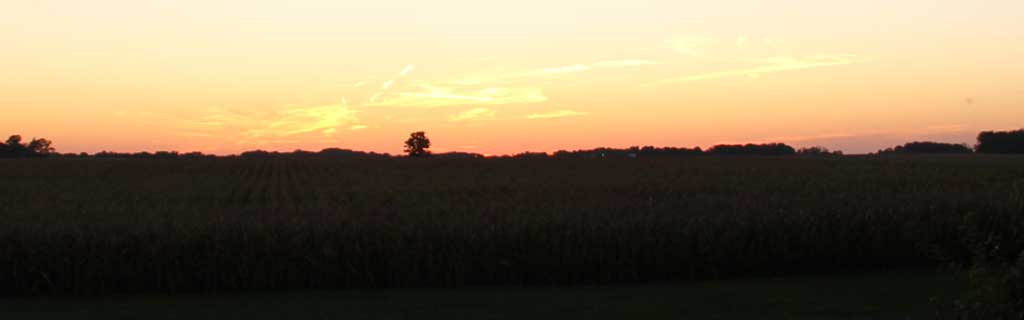 Sunset scene, Access to Parke County, Indiana